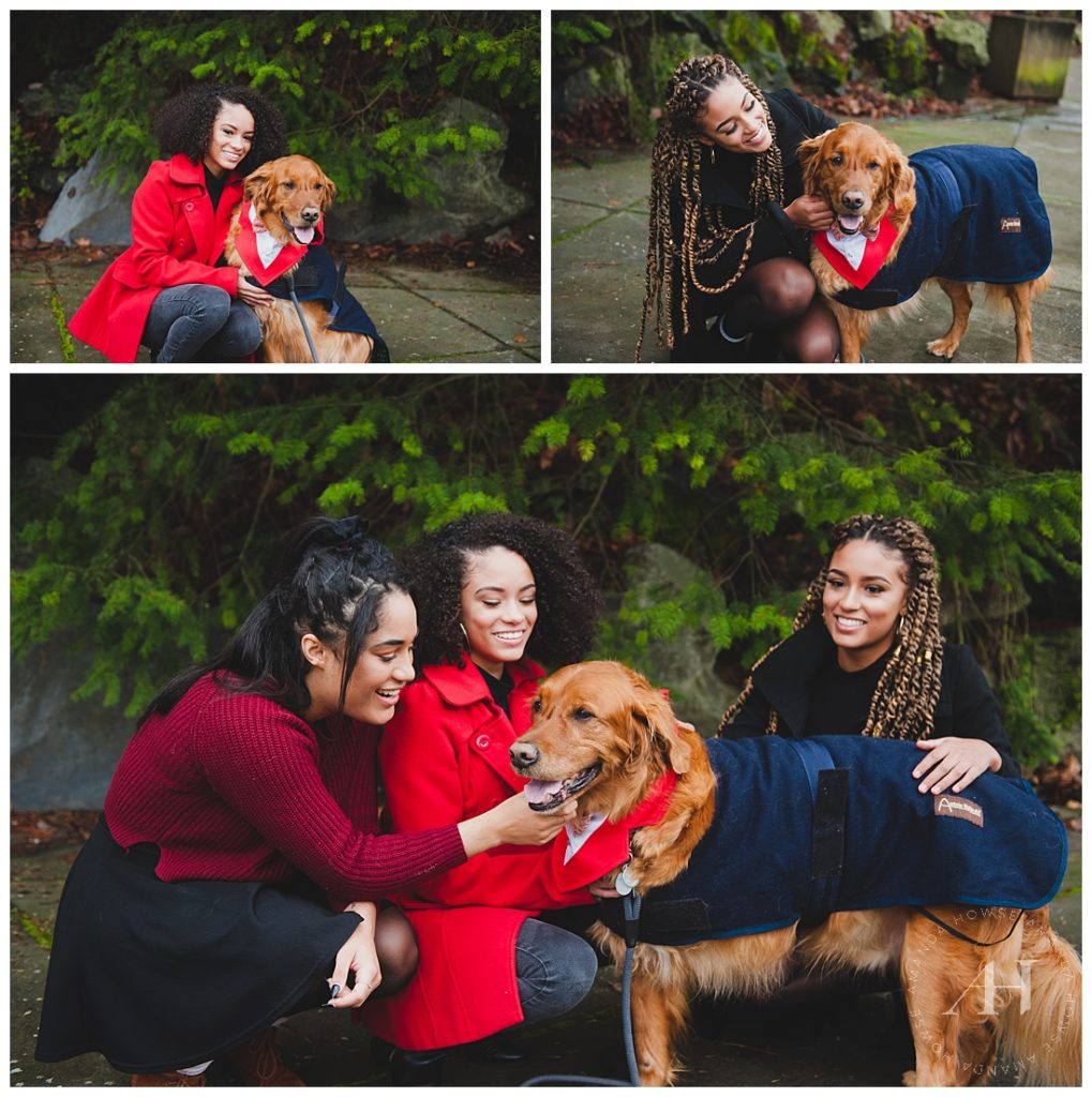 Cute Family Portraits with A Golden Retriever | Why You Should Bring Your Pet to Family Portrait Sessions | Photographed by Tacoma Photographer Amanda Howse